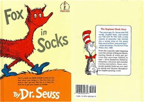 libro fox in socks big la coru 241 a kids libros en ingl 233 s con juegos de palabras de dr seuss