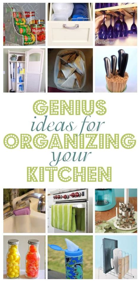 organizing ideas for kitchen genius ideas for organizing your kitchen