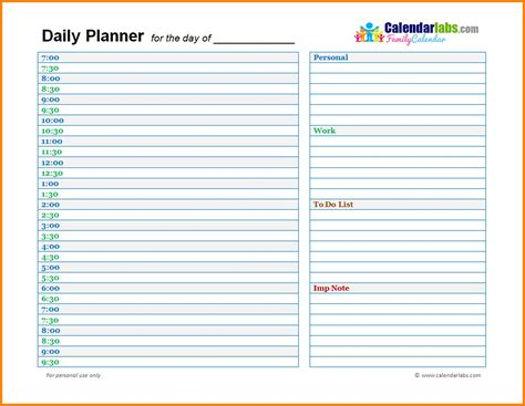 Free Printable Daily Planner Template Top Daily Planner Daily Planner Template Word