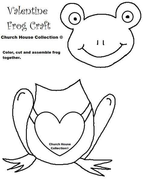 frog valentine craft for kids cutout template no words png