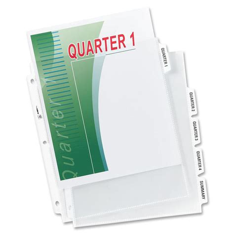 Avery Index Maker 5 Tab Template by Avery Index Maker 5 Tab Clear Pocket View Dividers Ld