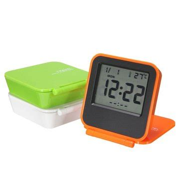 foldable lcd digital travel desk alarm clock snooze date day thermometer sale banggood