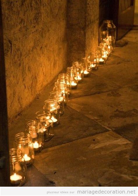 pots en verre et bougies pour d 233 corer un mariage pas cher