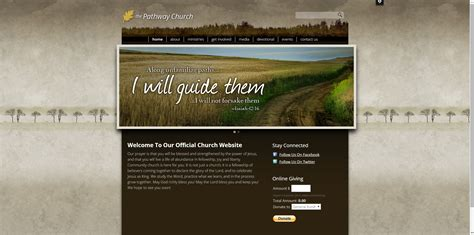 30 Best Church Website Templates For Ministry And Outreach Sharefaith Magazine Rustic Website Template