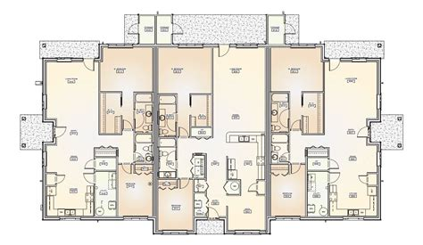 8 Plex Apartment Plans by Triplex House Plans Numberedtype