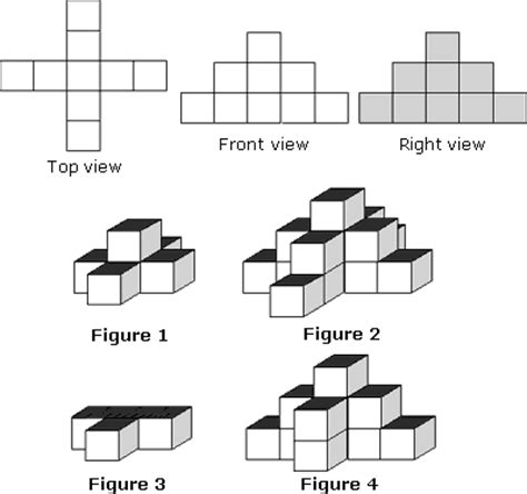 top right or right top 3d figures worksheet problems solutions