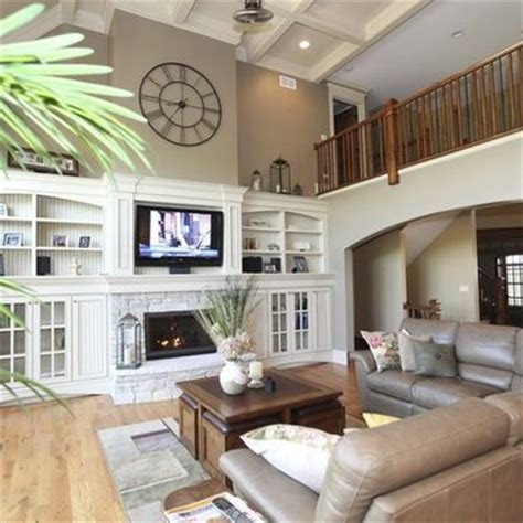 Image Result For Built In Bookshelves Around Fireplace High Ceilings Living Room Ideas