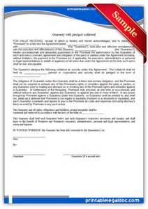Pledge Form Template by Free Printable Guaranty With Pledge Form Generic