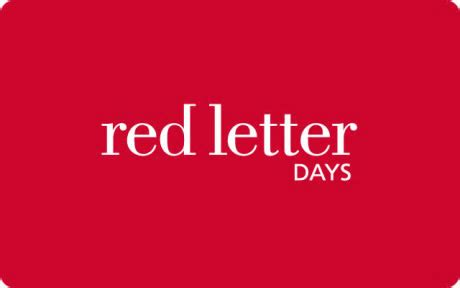 Red Letter Days Gift Card - thegiftcardcentre co uk red letter days gift card