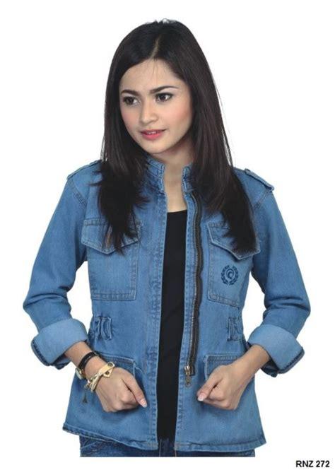 Jaket Wanita 38 fashion jaket wanita denim biru gudang fashion wanita