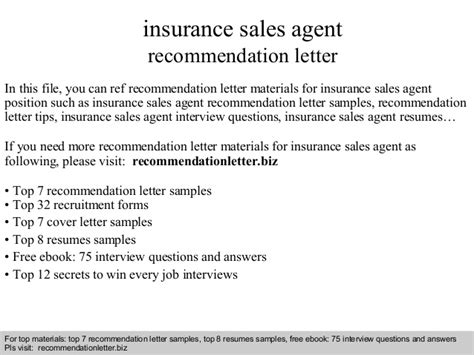 Insurance Referral Letter Insurance Sales Recommendation Letter