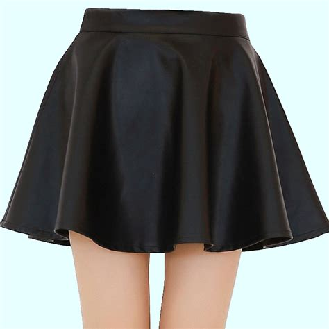 faux leather skirt 2015 new casual summer
