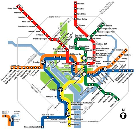 Map Metro by Washington Metro And Map