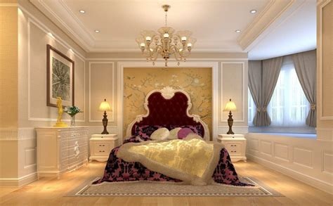 european bedroom bedroom interior design with bed chandelier and bedside