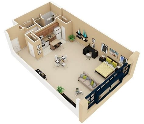 Floor Plans For 3 Bedroom Flats Planos De Departamentos Peque 241 Os Planos Y Fachadas