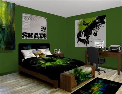 green bedroom ideas skateboard green bedroom theme featured at http www