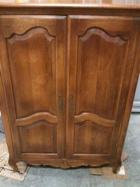 ethan allen armoire this that and life french television armoire by ethan allen