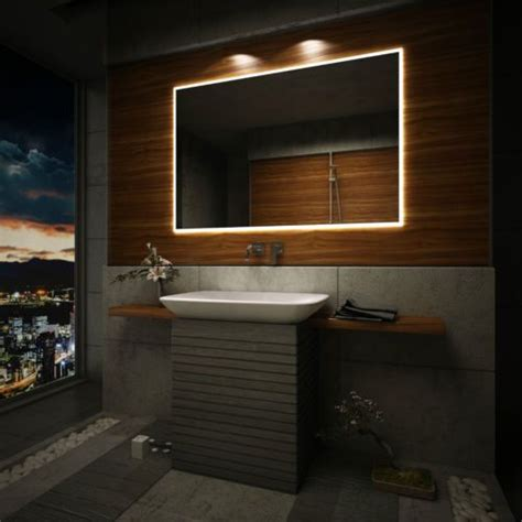 bathroom mirrors with lights and demister details about led illuminated bathroom mirror to measure