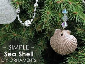 glittery seashell ornaments diy mod podge rocks