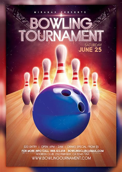 27 Bowling Flyer Templates Psd Ai Eps Vector Format Download Bowling Event Flyer Template