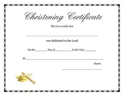 templates for certificates of baptism free baptism certificate template template update234 com