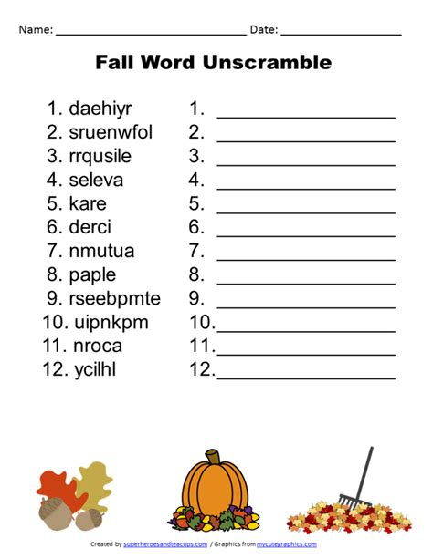 free printable unscramble word games for adults free printable fall word unscramble