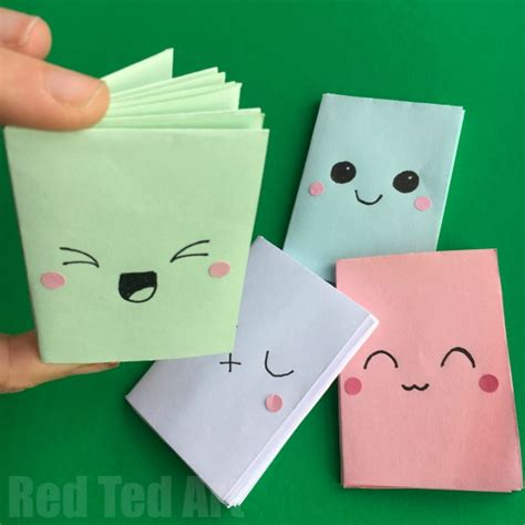 Notebook Paper Origami - diy mini notebook from a sheet of paper ted s