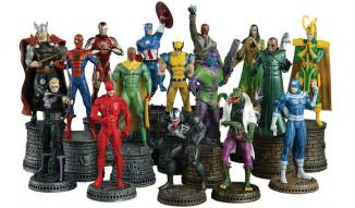 Unique Chess Pieces marvel chess comic heroes eaglemoss