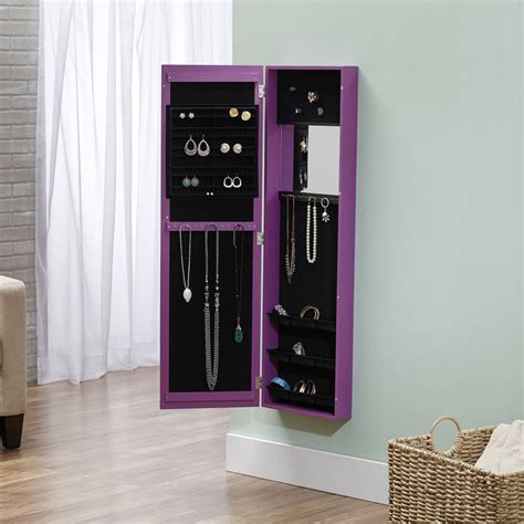 over the door mirrored jewelry armoire jewelry armoire over the door mirror cabinet hsn soapp