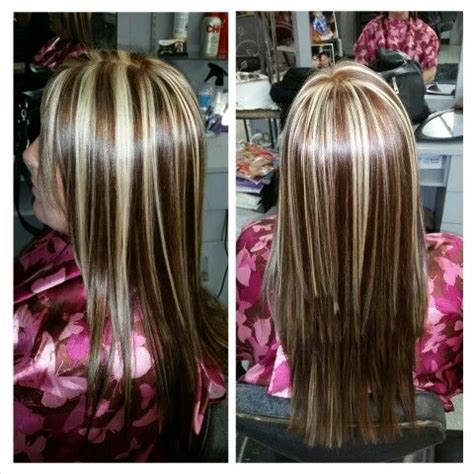 blonde base colours blonde highlights with a copper brown base color hair