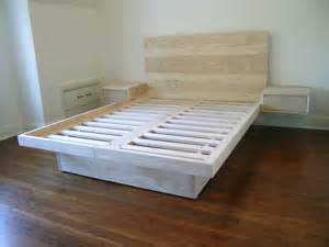 Platform Bed With Side Drawers Custom Platform Bed With Drawers And Sidetables