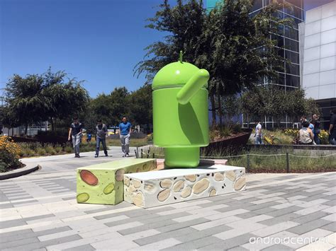 android statues here s the android nougat statue at the googleplex android central
