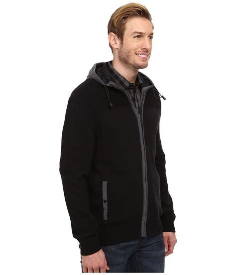 Hoodie Zipper Dkny lyst dkny sleeve zip sport sweater w hoodie in black