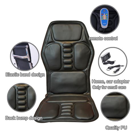 car seat bottom massager heated back electric chair seat car home office