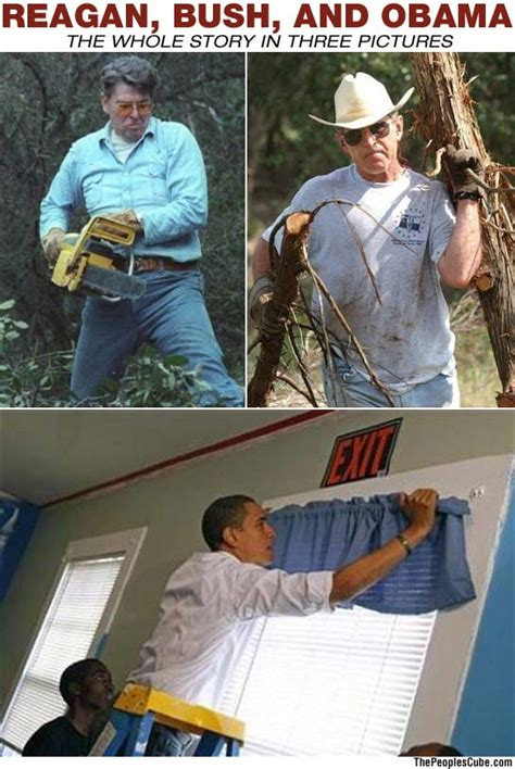 obama hanging curtains reagan bush and obama a story in three pictures