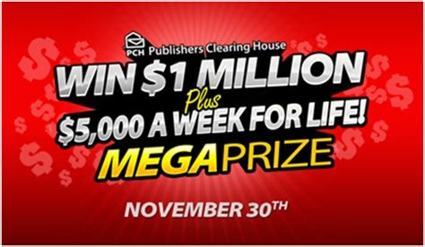 About Com Mega Sweepstakes - get in the race to win the pch mega prize pch blog