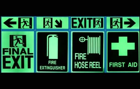 glow in the safety signs 3d decor