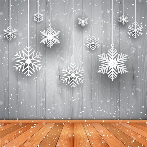 christmas background  hanging snowflakes   vectors clipart graphics vector art