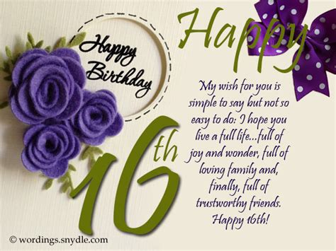 Happy Sixteenth Birthday Wishes 16th Birthday Wishes Messages And Greetings Wordings