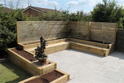 Sleeper Seating by Sheffield Builder Landscaper Gallery Images Of Houses And