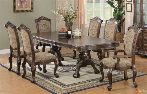 dining room table set andrea cherry finish formal dining room table set