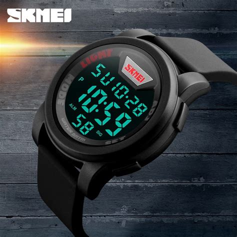 Skmei Trendy Led Dg1218 skmei jam tangan trendy digital pria dg1218 blue