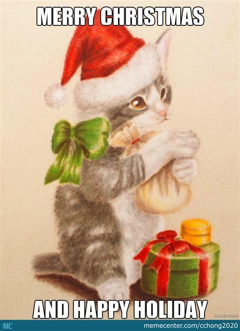 merry christmas cat  cchong meme center