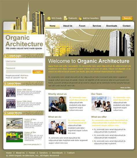 dreamweaver layout templates architecture studio dreamweaver templates