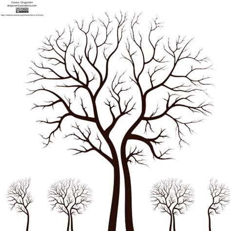 svg tree pattern leafless autumn tree design vector dragonartz designs