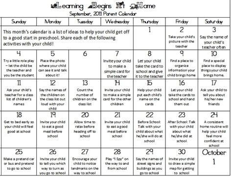 kindergarten activities september 8 best images of preschool printable calendar for