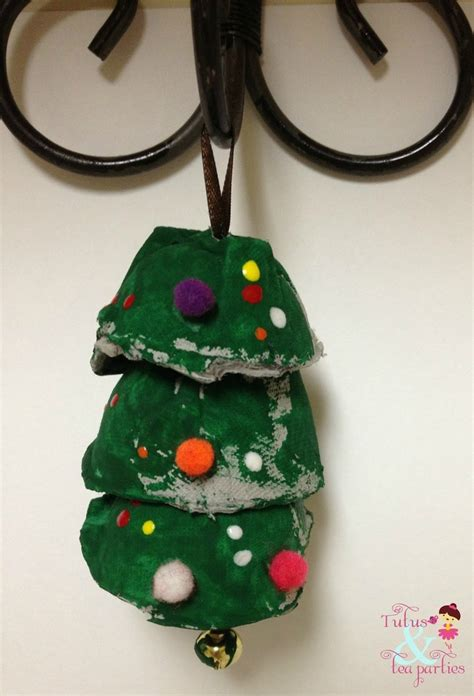 egg carton christmas tree ornament crafts and activities