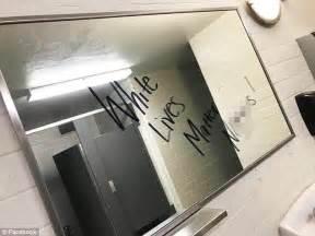 school bathroom graffiti missouri student writes white lives matter on mirror