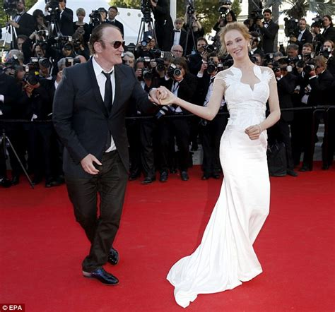 Cbell Takes Uma Thurmans Seconds by Uma Thurman And Quentin Tarantino Waltze Cannes
