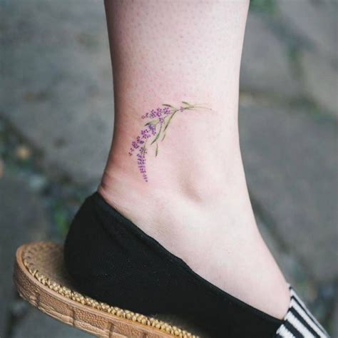 inner ankle tattoo 16 best lavender tattoos images on